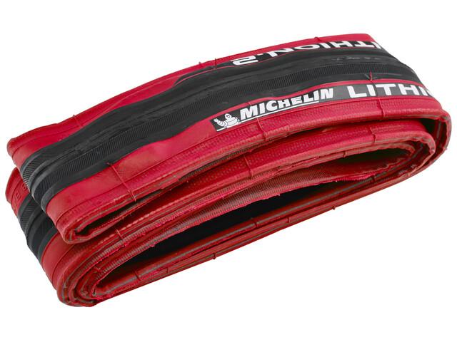 """Michelin Lithion 2 Fahrradreifen 28"""" rot"""